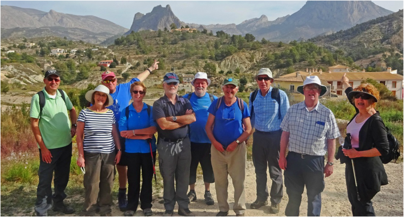 Guided walking group Costa Blanca